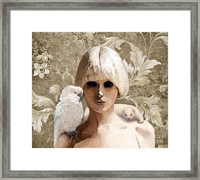 Platinum Friends Framed Print by Maureen Tillman