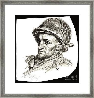 Platoon Runner 1945 Framed Print by Padre Art