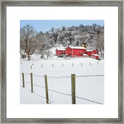 Platt Farm Square Framed Print by Bill Wakeley