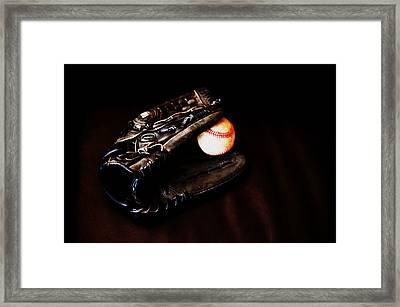 Play Ball Fine Art Photo Framed Print by Jon Van Gilder