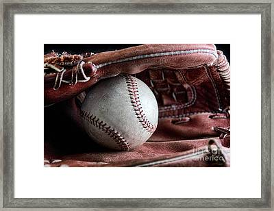 Play Ball Framed Print by Peggy Hughes