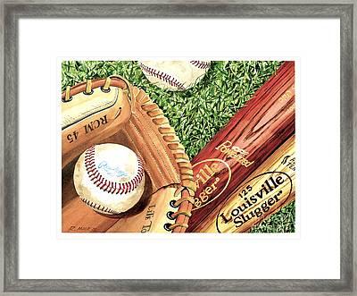 Play Ball Framed Print by Rick Mock