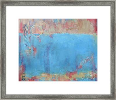 Play By Numbers Framed Print by Kate Marion Lapierre