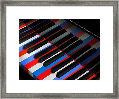 Play God Bless America For Me  Framed Print by David and Carol Kelly
