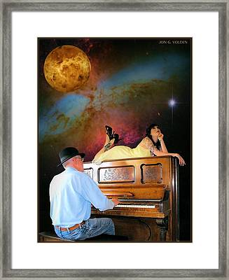 Play It Again Sam Framed Print by Jon Volden