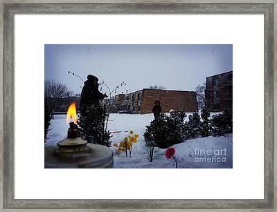 Play Time In The Snow Framed Print by Celestial Images