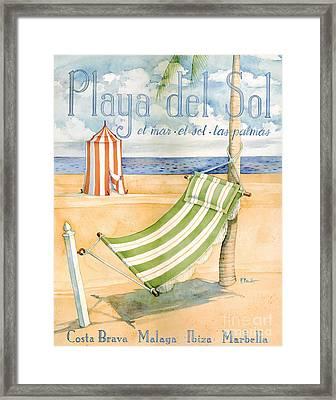 Playa Del Sol Framed Print by Paul Brent