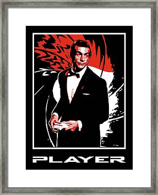 Player Framed Print by Lance Vaughn