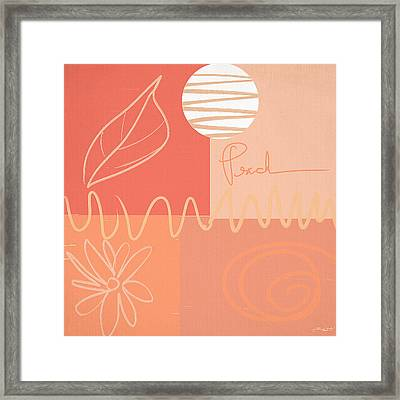 Playful Peach Framed Print by Lourry Legarde