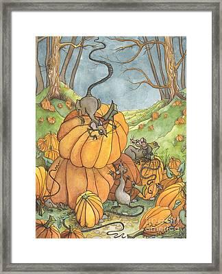 Playful Rats Framed Print by Priscilla  Jo