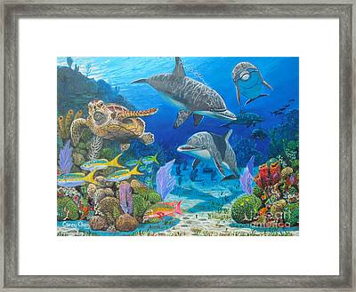Playground Re004 Framed Print by Carey Chen