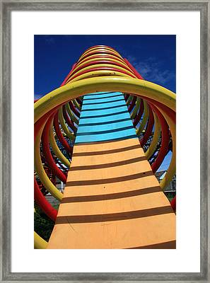 Playground Shapes Framed Print by Robert Hamm