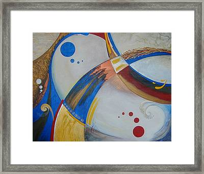 Playing In Another Reality Framed Print by Konnie Laumer