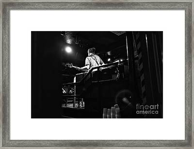 Playing In New Orleans Mono Framed Print by John Rizzuto