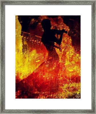 Playing Just For You Framed Print by Gun Legler