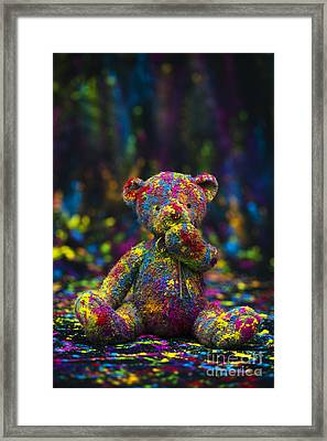 Playing With Coloured Powder Framed Print by Tim Gainey