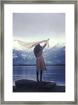 Playing With Wind Framed Print by Joana Kruse