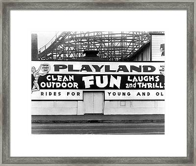 Playland At The Beach Framed Print by Underwood Archives