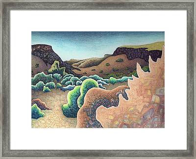 Plaza Blanca Canyon Framed Print by Dale Beckman