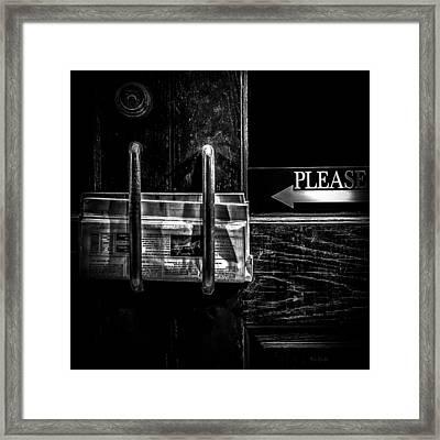 Please Framed Print by Bob Orsillo