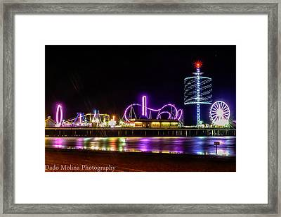 Pleasure Pier Framed Print by Dado Molina