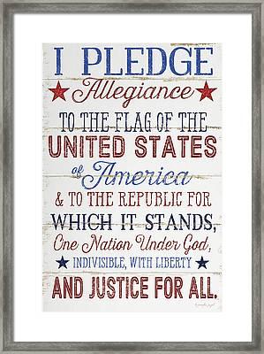 Pledge Allegiance Framed Print by Jennifer Pugh