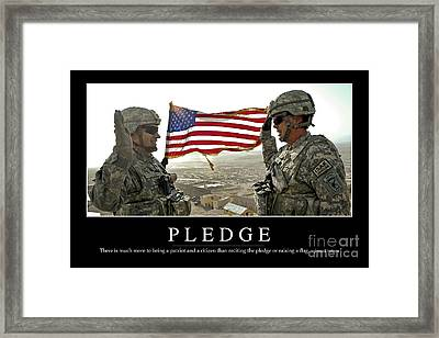 Pledge Inspirational Quote Framed Print by Stocktrek Images