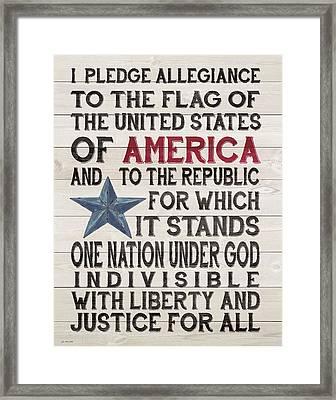 Pledge Framed Print by Jo Moulton