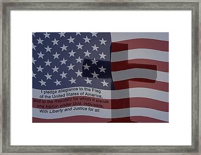 Pledge Of Allegiance Framed Print by Ernie Echols
