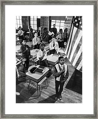Pledge Of Allegiance Framed Print by Retro Images Archive