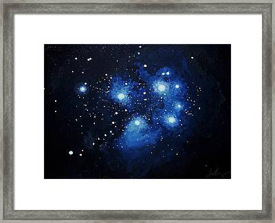 Pleiades The Seven Sisters Framed Print by Timothy Benz