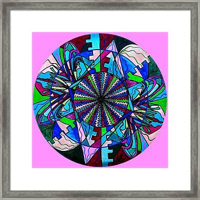 Pleiadian Integration Lightwork Model  Framed Print by Teal Eye  Print Store