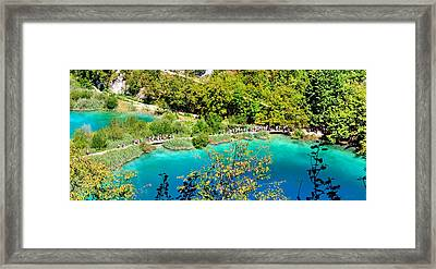 Plitvice Lakes Croatia Framed Print by Julia Fine Art And Photography