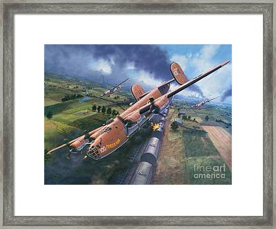 Ploesti - The Tidal Wave Breaks Framed Print by Stu Shepherd
