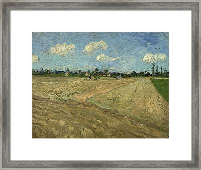 Ploughed Fields Framed Print by Georgia Fowler