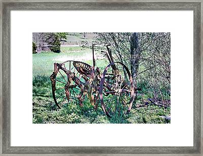 Plowed Out Framed Print by Kristin Elmquist
