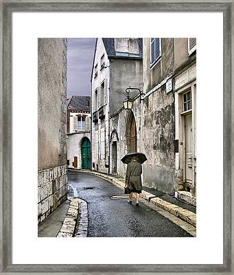Pluie A Chartres - 1 Framed Print by Nikolyn McDonald