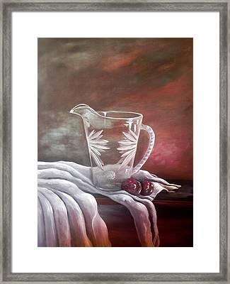 Plum Beautiful Framed Print by Laura Brown