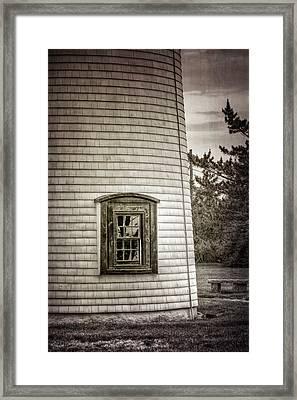 Plum Island Window Framed Print by Joan Carroll