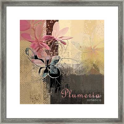 Plumeria - 64-115152167m4t3b Framed Print by Variance Collections