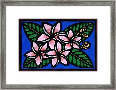 Plumeria Framed Print by Lisa Greig