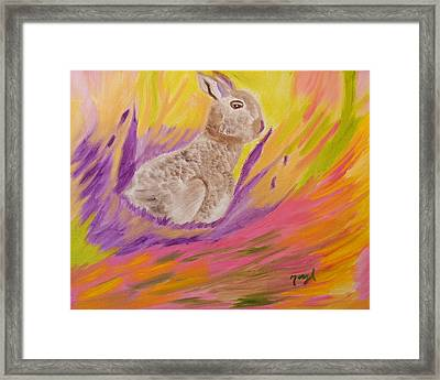 Plunge Into Your Painting Framed Print by Meryl Goudey
