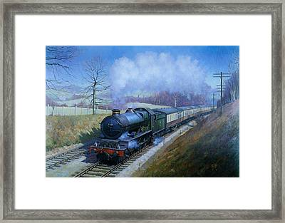 Plymouth Bound. Framed Print by Mike  Jeffries