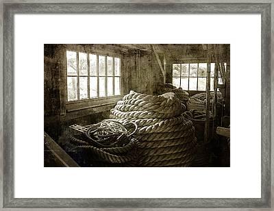 Plymouth Cordage Company Ropewalk Framed Print by Cindi Ressler