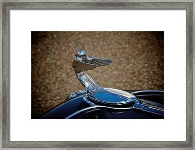Plymouth Flying Lady Framed Print by Odd Jeppesen