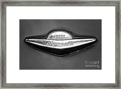 Plymouth Trunk Emblem Framed Print by Scott Pellegrin