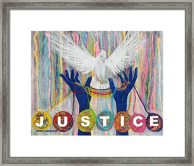 Pms 20 Justice Framed Print by Anne Cameron Cutri