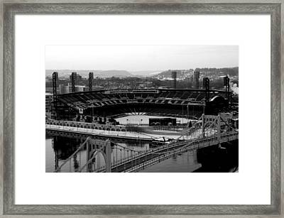 Pnc Park From Above Framed Print by Paul Scolieri