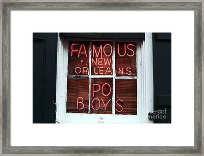 Po Boys Framed Print by John Rizzuto