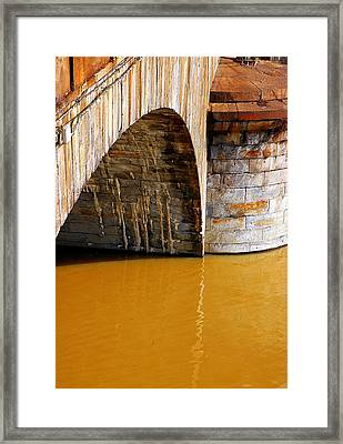Po River Waters Framed Print by Valentino Visentini